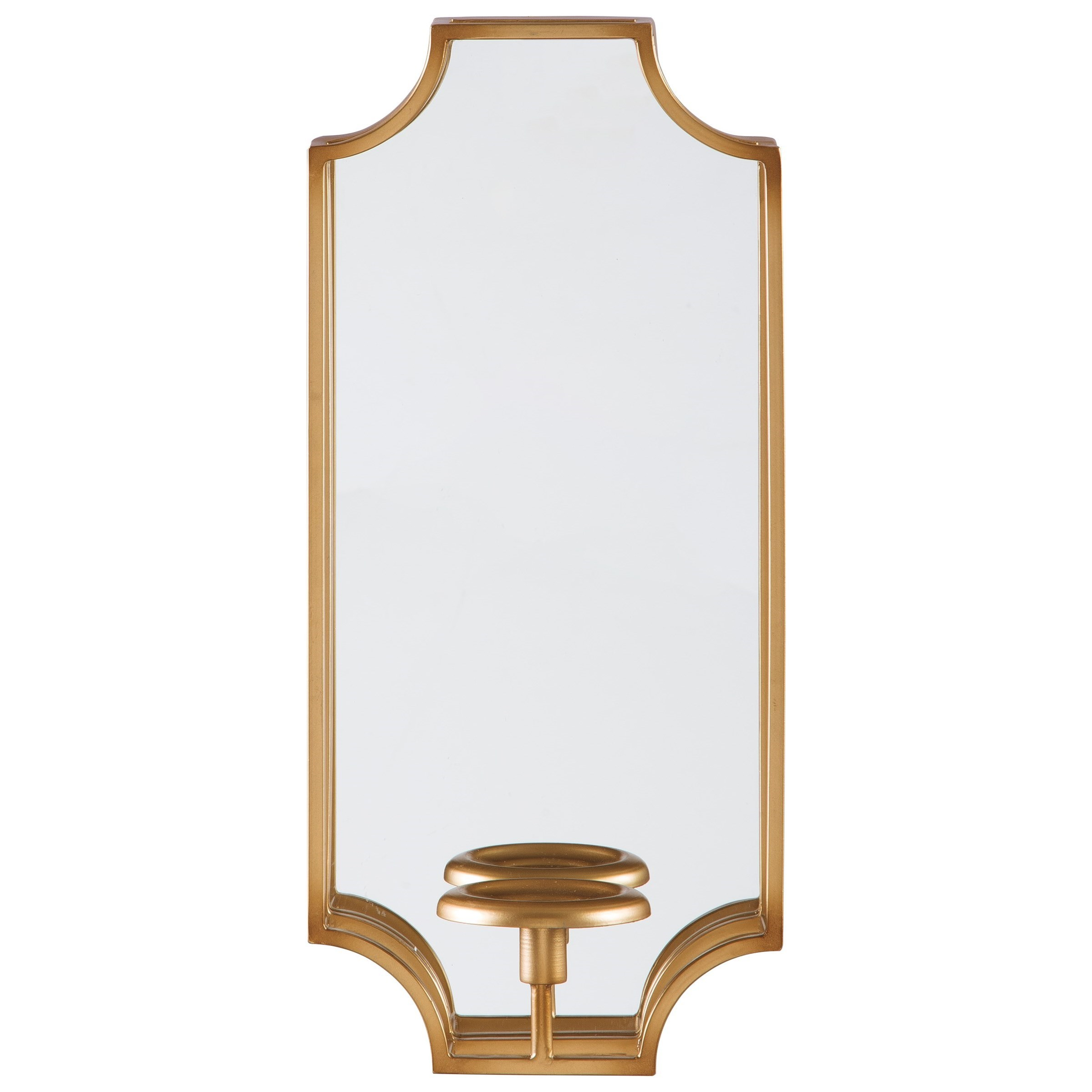 Accent Mirrors Dumi Gold Finish Wall Sconce by Benchcraft at Virginia Furniture Market