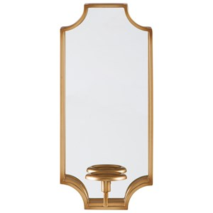 Ashley Signature Design Accent Mirrors Dumi Gold Finish Wall Sconce