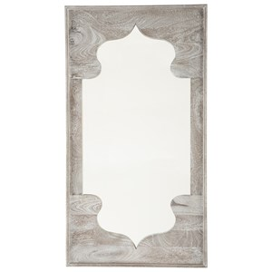 Ashley Signature Design Accent Mirrors Bautista Antique Gray Accent Mirror