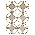 Signature Design by Ashley Accent Mirrors Emilia Gold Finish Wall Sconce - Item Number: A8010157