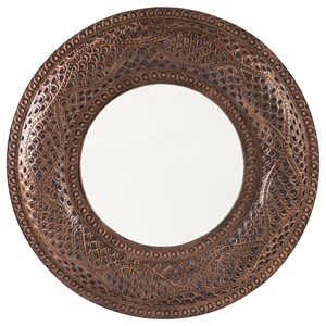 Elikapeka Antique Brown Accent Mirror