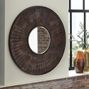 Signature Design by Ashley Accent Mirrors Bartleby Copper/Bronze Finish Accent Mirror