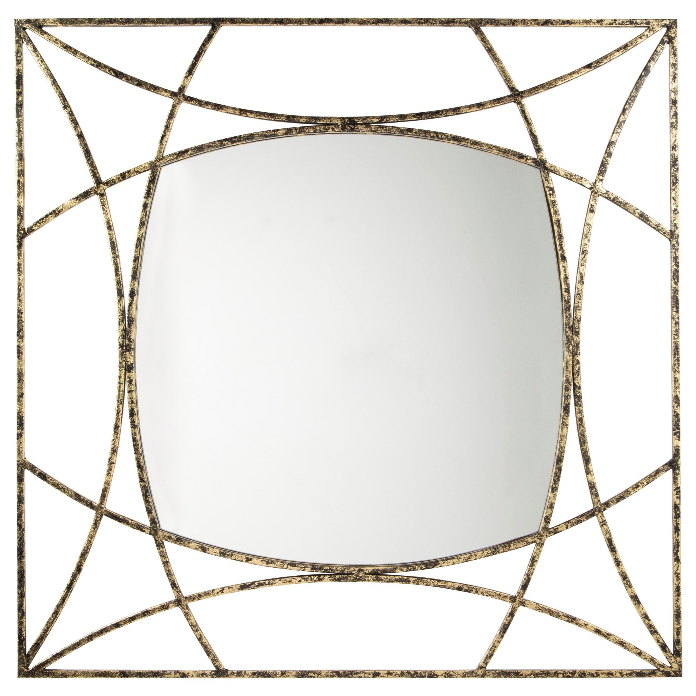 Accent Mirrors Keita Black/Gold Finish Accent Mirror by Signature Design by Ashley at Houston's Yuma Furniture