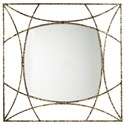 Signature Design by Ashley Accent Mirrors Keita Black/Gold Finish Accent Mirror - Item Number: A8010175