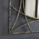 Signature Design by Ashley Accent Mirrors Keita Black/Gold Finish Accent Mirror