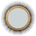 Signature Design by Ashley Accent Mirrors Elodie Black/Gold Finish Mirror - Item Number: A8010199