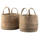 Signature Design by Ashley Accents Brayton Natural Basket Set - Item Number: A2000094