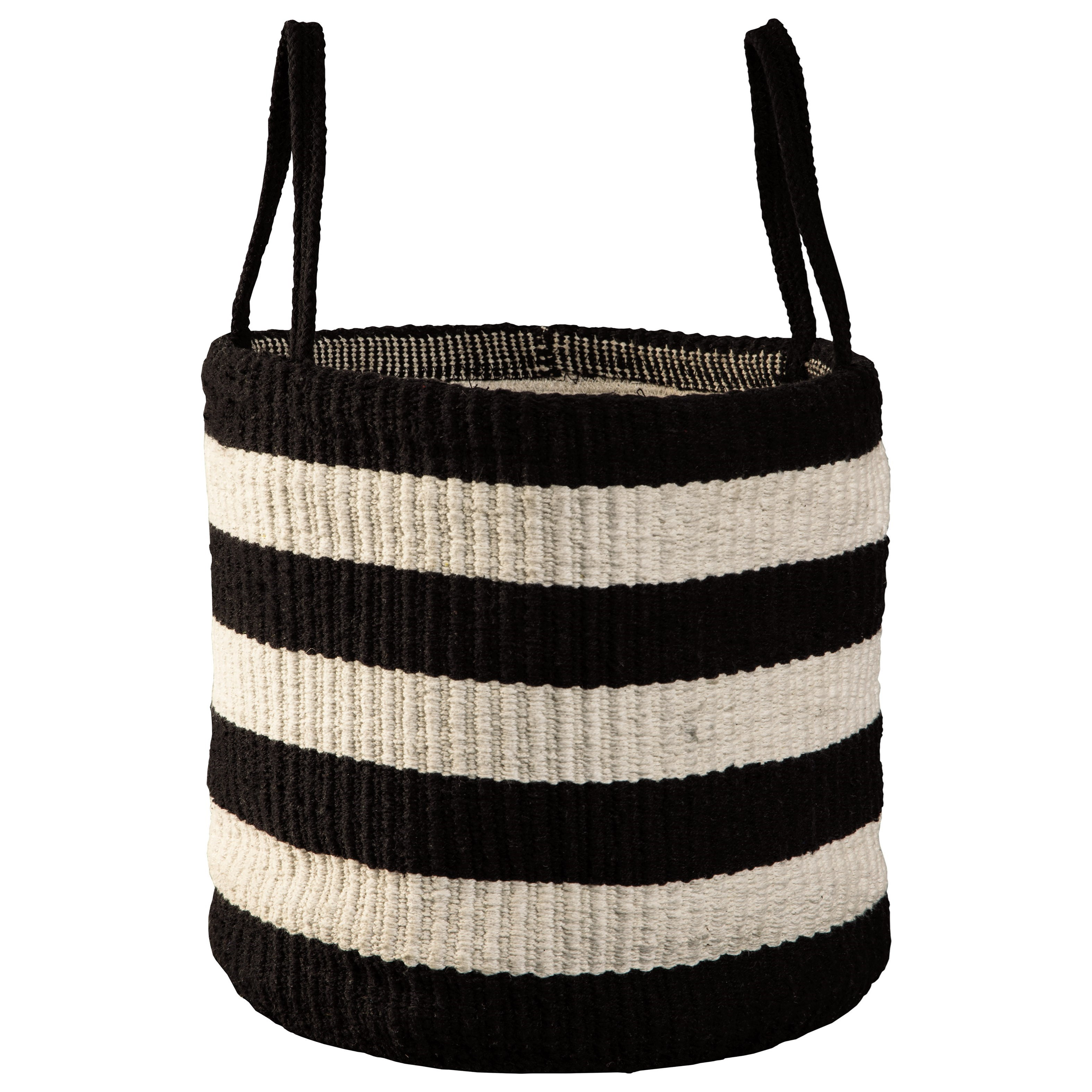 Edgerton Black/White Basket