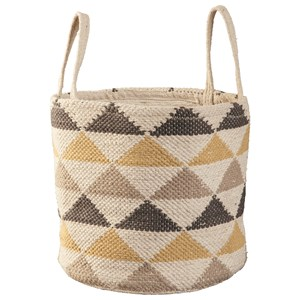 Ashley Signature Design Accents Eirian Cream/Gray/Yellow Basket