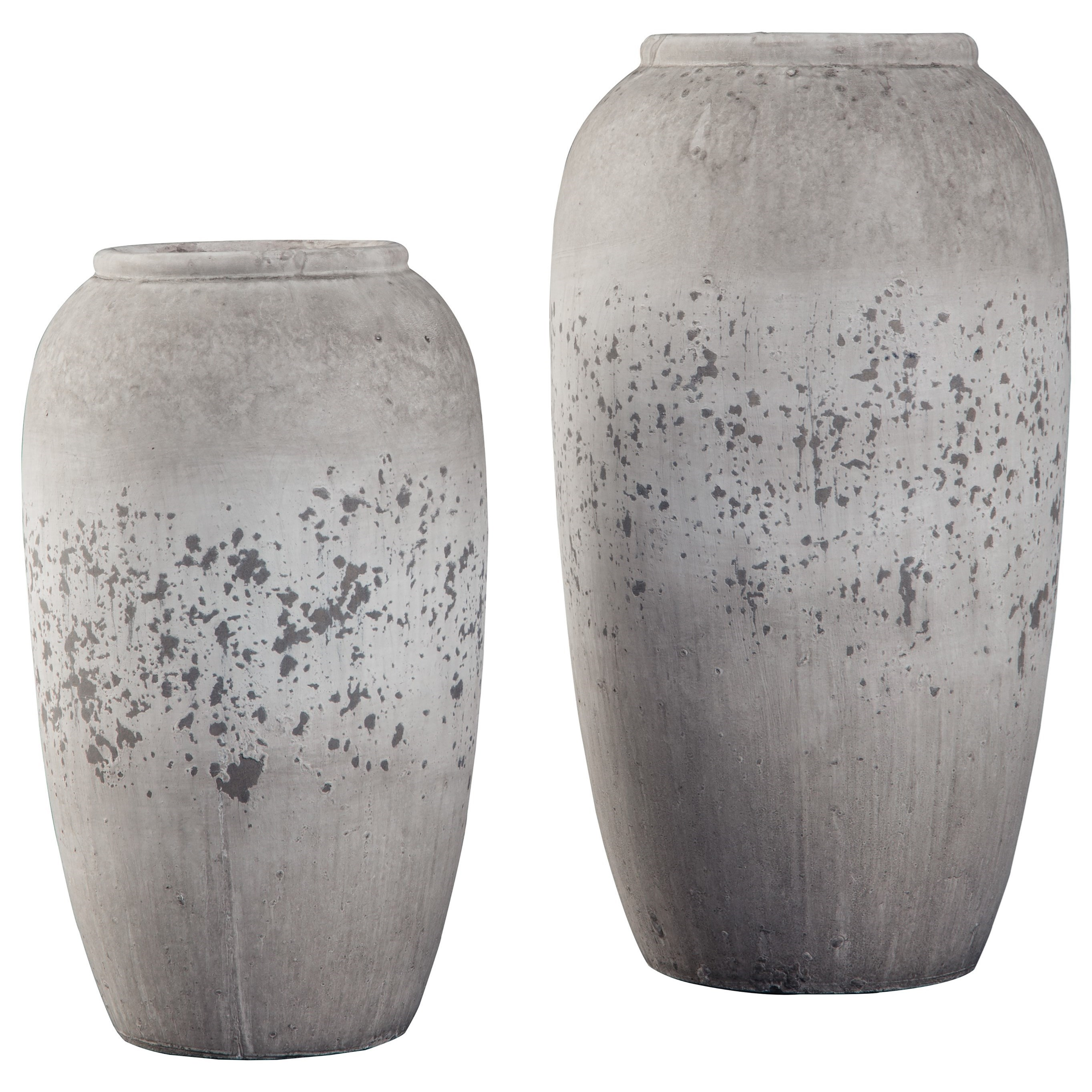 Accents Dimitra Brown/Cream Vase Set by Ashley Furniture Signature Design at Del Sol Furniture
