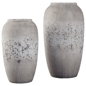 Ashley Signature Design Accents Dimitra Brown/Cream Vase Set