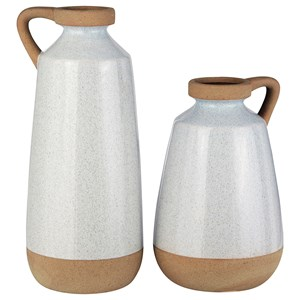 Tilbury Cream Glazed Ceramic Vase Set