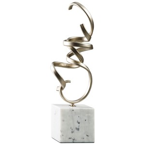 Ashley Signature Design Accents Pallaton Champagne Finished/White Sculpture