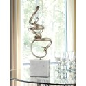 Signature Design by Ashley Accents Pallaton Champagne Finished/White Marble Sculpture