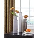 Signature Design by Ashley Accents Deus Gray/White/Brown Vase Set