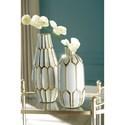 Signature Design by Ashley Accents Mohsen Gold Finish/White Vase Set
