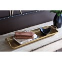 Signature Design by Ashley Accents Posy Gold Finish Tray