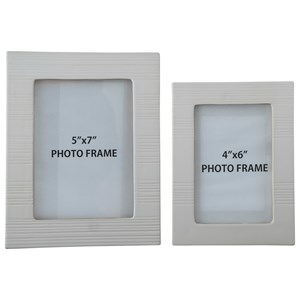 Signature Design by Ashley Furniture Accents Baback White Photo Frames (Set of 2)