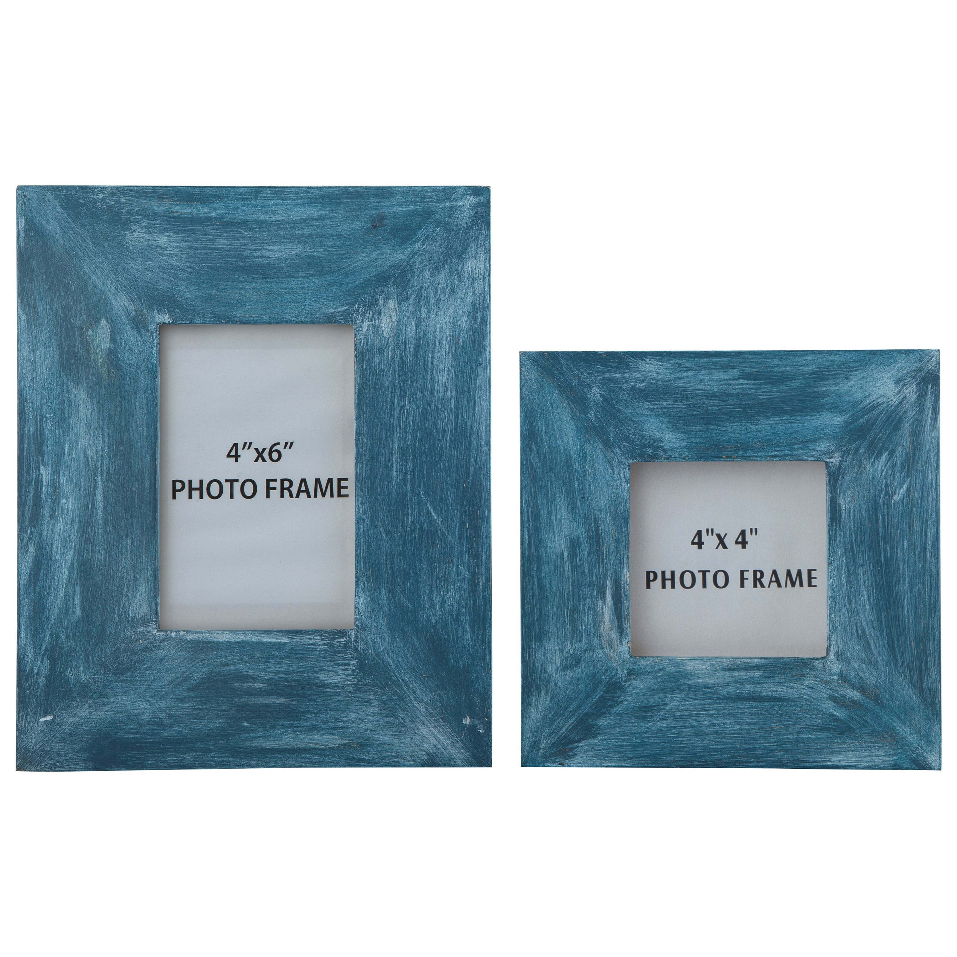 Signature Design by Ashley Accents Baeddan Antique Blue Photo Frames (Set of 2) - Item Number: A2000147F