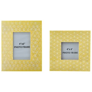 Signature Design by Ashley Furniture Accents Bansi - Yellow Photo Frames (Set of 2)