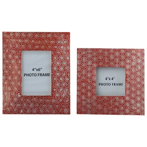 Ashley Signature Design Accents Bansi - Orange Photo Frames (Set of 2)
