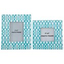 Signature Design by Ashley Accents Baina - Teal/White Photo Frame (Set of 2) - Item Number: A2000151F