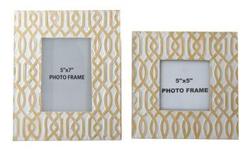 Signature Design by Ashley Accents Baina - Yellow/White Photo Frame (Set of 2) - Item Number: A2000152F