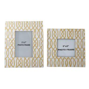 Signature Design by Ashley Accents Baina - Yellow/White Photo Frame (Set of 2)