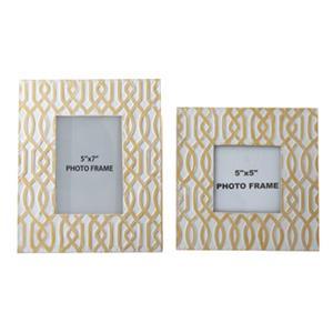 Signature Design by Ashley Accents Baina - Yellow/White Photo Frame (Set of 2)