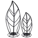 Signature Design by Ashley Accents Cadelaria - Black Candle Holder (Set of 2) - Item Number: A2000155C