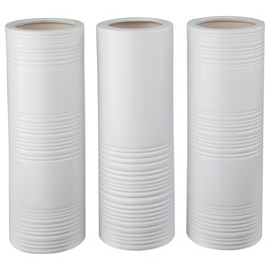 Signature Design by Ashley Accents Daemyn White Vases (Set of 3)