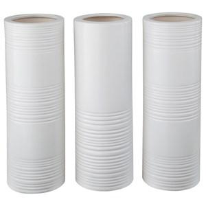 Ashley (Signature Design) Accents Daemyn White Vases (Set of 3)