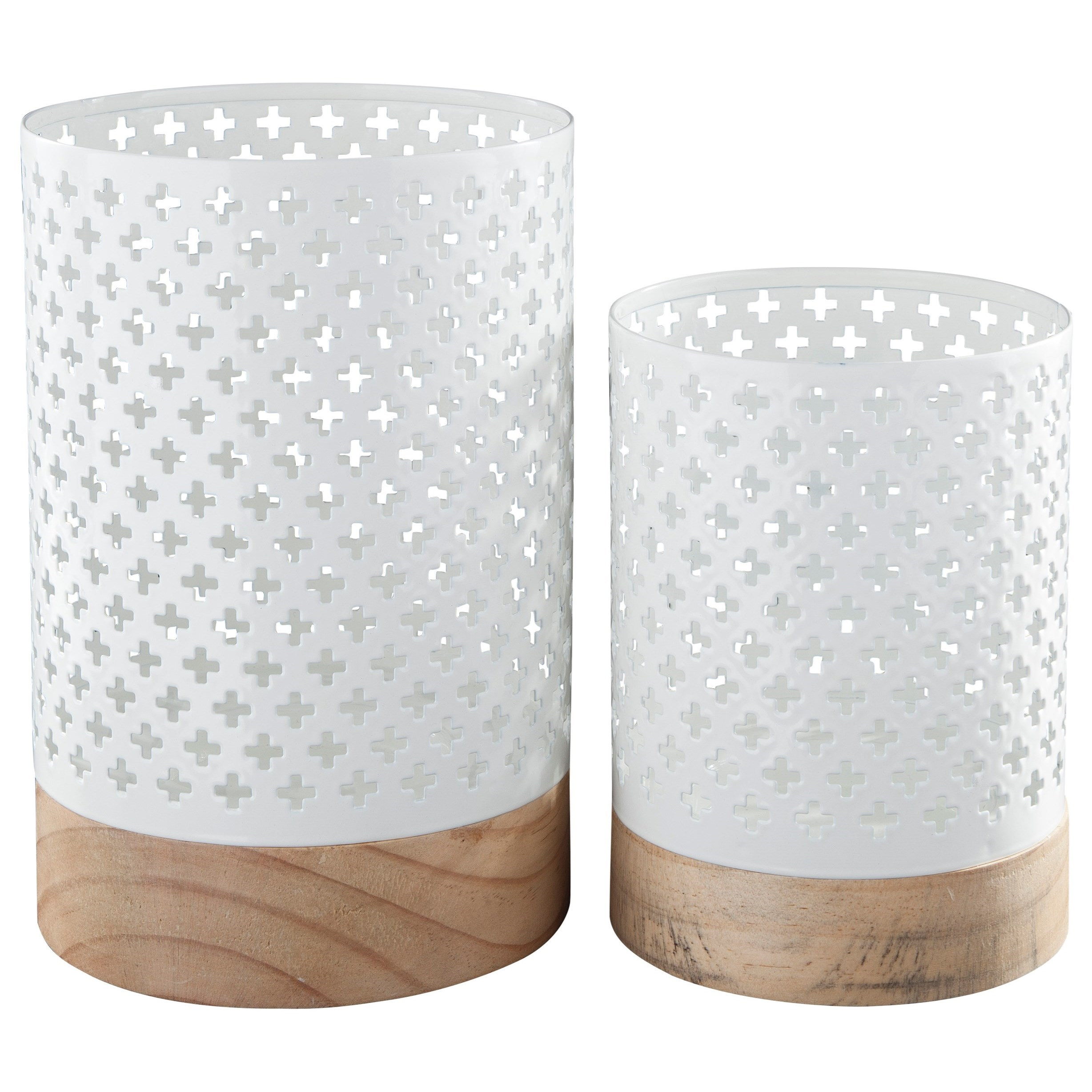 Signature Design by Ashley Accents Daichi Candle Holder (Set of 2) - Item Number: A2000169C