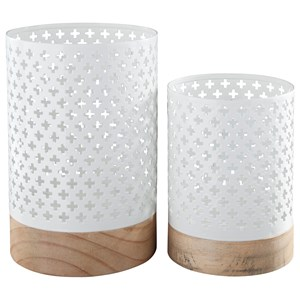Signature Design by Ashley Accents Daichi Candle Holder (Set of 2)