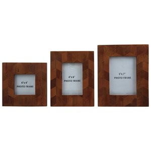 Signature Design by Ashley Furniture Accents Kabecka Brown Photo Frames (Set of 3)
