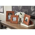 Signature Design by Ashley Accents Kabecka Brown Photo Frames (Set of 3)