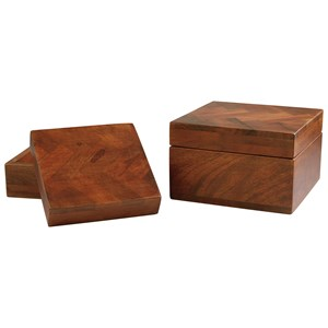 Signature Design by Ashley Accents Kabecka Brown Boxes (Set of 2)