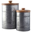 StyleLine Accents Divakar Antique Gray Jar Set - Item Number: A2000174