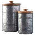Ashley Signature Design Accents Divakar Antique Gray Jar Set - Item Number: A2000174