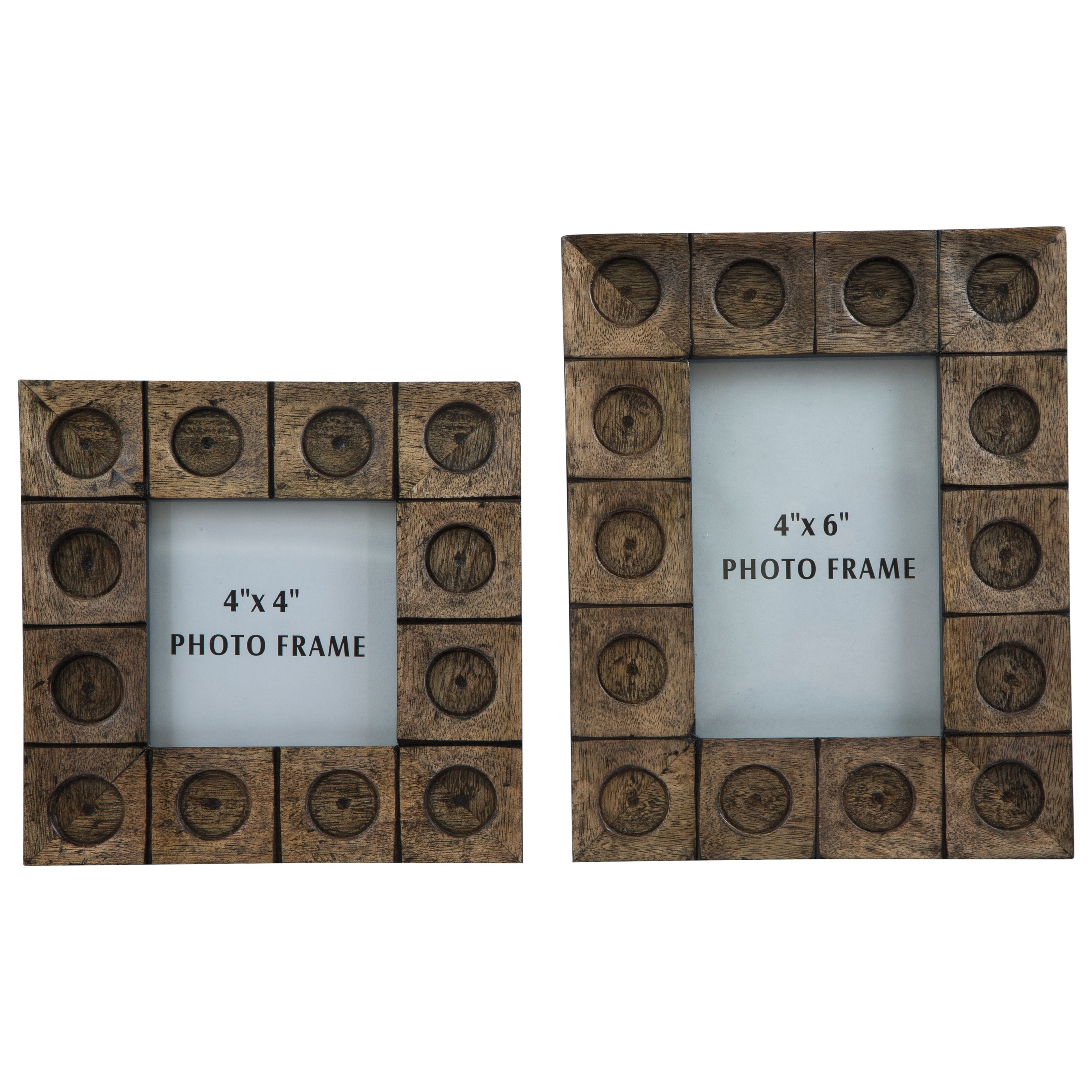 Signature Design by Ashley Furniture Accents Jasiah Antique Gray Photo Frame Set - Item Number: A2000181F