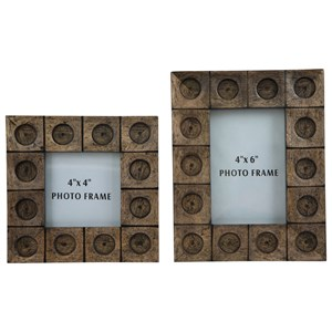 Signature Design by Ashley Furniture Accents Jasiah Antique Gray Photo Frame Set