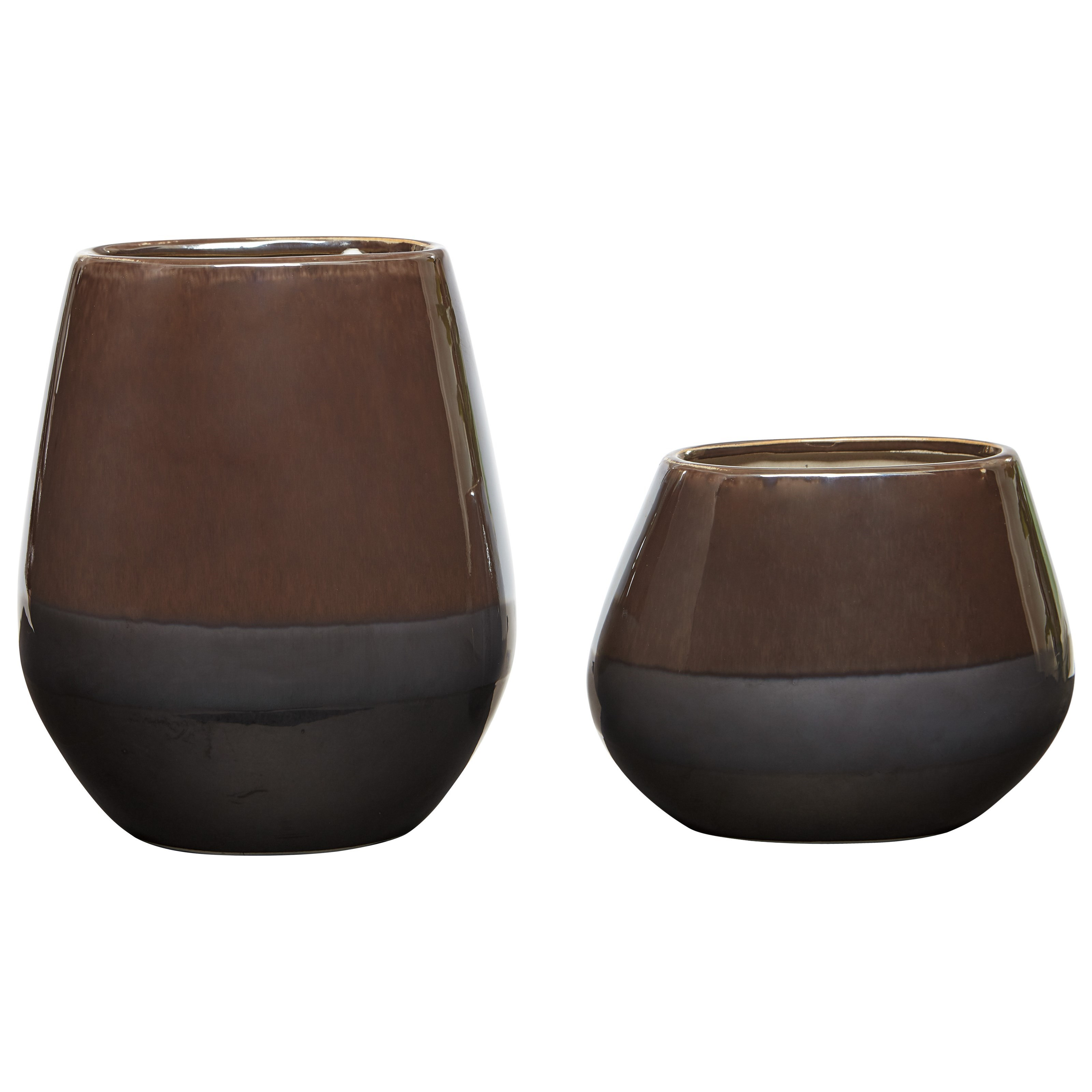 Signature Design by Ashley Accents Emiliano Taupe Vase Set - Item Number: A2000185