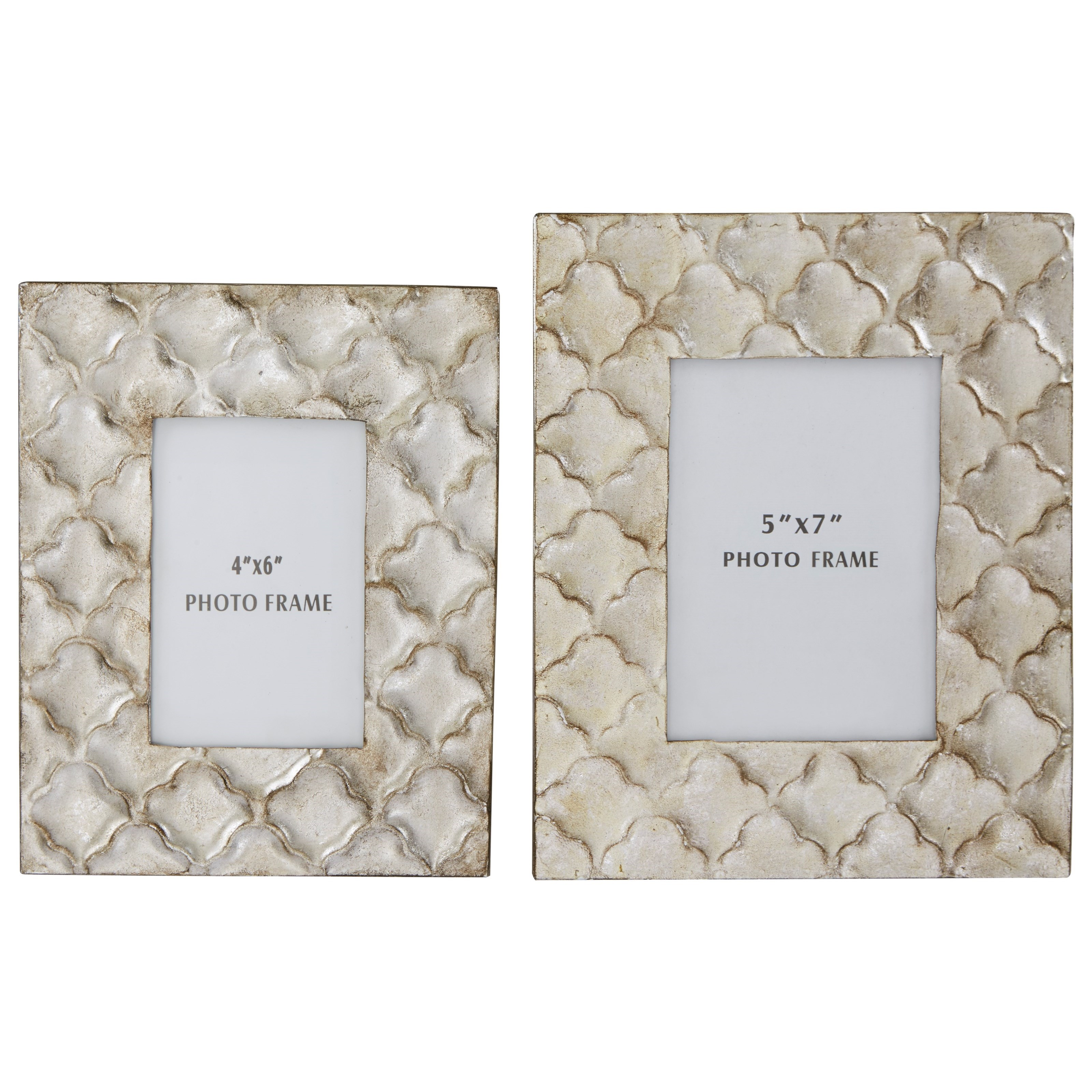 Signature Design by Ashley Accents Kaeden Silver Leaf Photo Frame (Set of 2) - Item Number: A2000186F