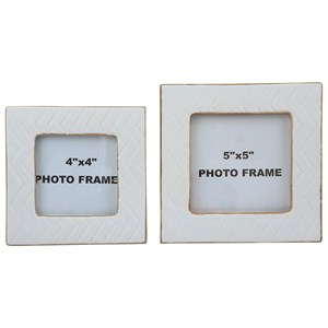 Signature Design by Ashley Accents Kaelem Antique White Photo Frames (Set of 2)