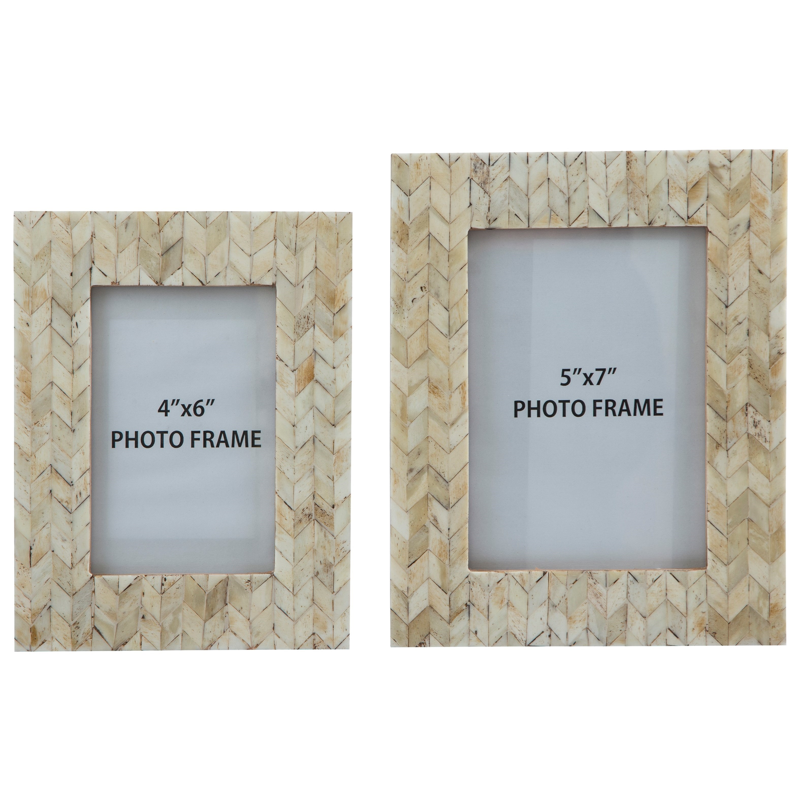 Signature Design by Ashley Accents Kase Cream Photo Frames (Set of 2) - Item Number: A2000195F