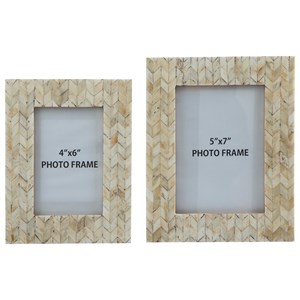 Signature Design by Ashley Furniture Accents Kase Cream Photo Frames (Set of 2)