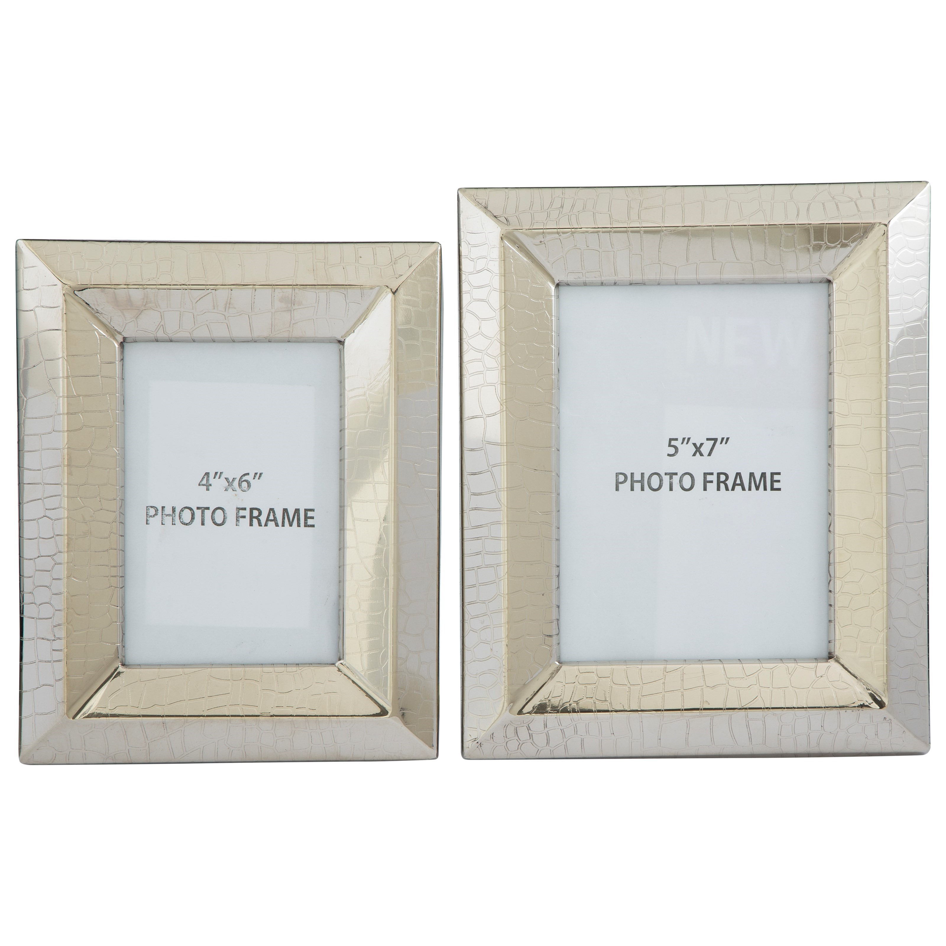 Signature Design by Ashley Accents Keyon Nickel Finish Photo Frames (Set of 2) - Item Number: A2000197F