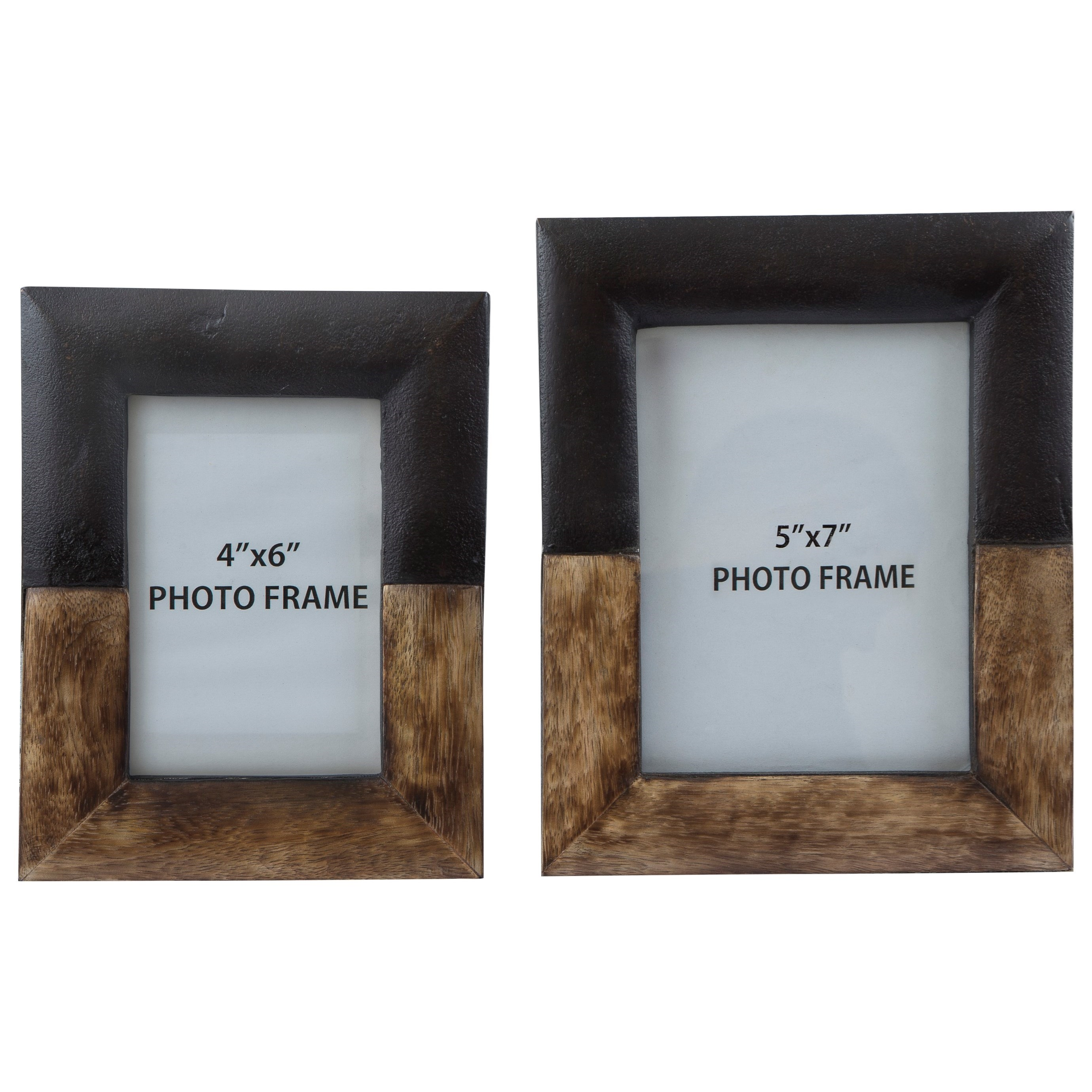 Signature Design by Ashley Accents Michi Bronze Finish/Wood Photo Frames Set - Item Number: A2000198F