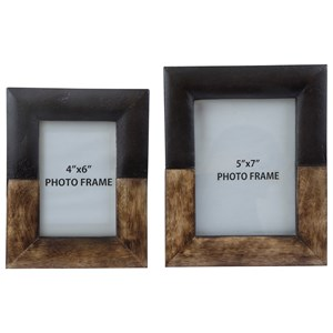 Signature Design by Ashley Furniture Accents Michi Bronze Finish/Wood Photo Frames Set