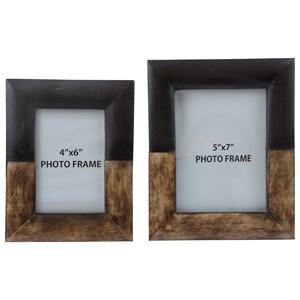StyleLine Accents Michi Bronze Finish/Wood Photo Frames Set